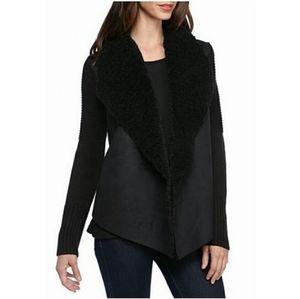 grace elements women's black knit open cardigan